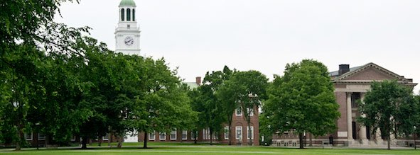 Baker and Rauner Libraries on the Dartmouth College Green